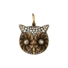Diamond Owl Charm