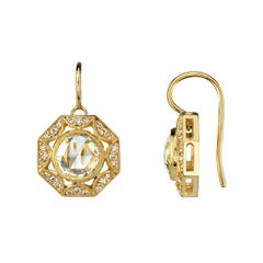 Unique Rose Cut Diamond Earrings