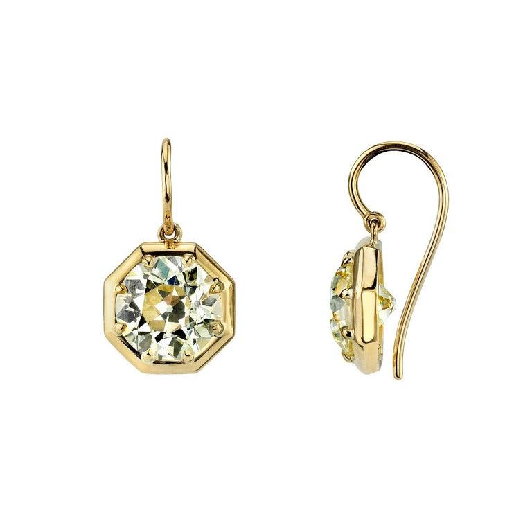 Octagonal Old European Cut Diamond Earrings