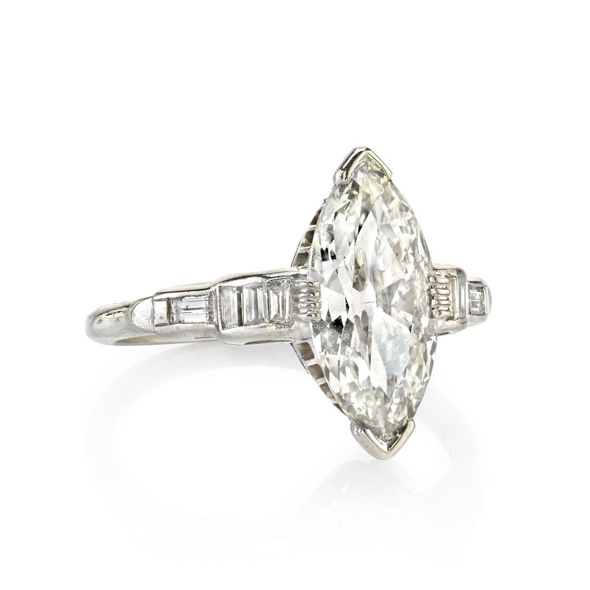 1 81 carat marquise cut platinum engagement ring
