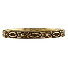 Handcrafted oxidized 18k gold ladies' band