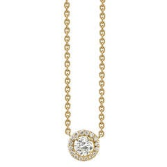 Old European Cut Diamond Gold Necklace
