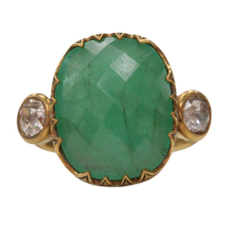 5 83 carat emerald three ring at 1stdibs