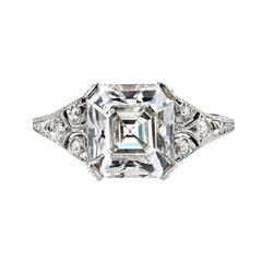 1920s Asscher Cut Diamond Engagement Ring