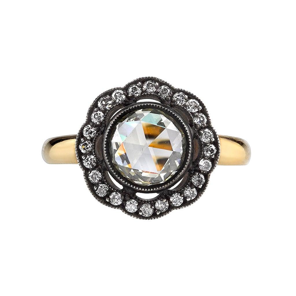 Old World Rose Cut Diamond Ring