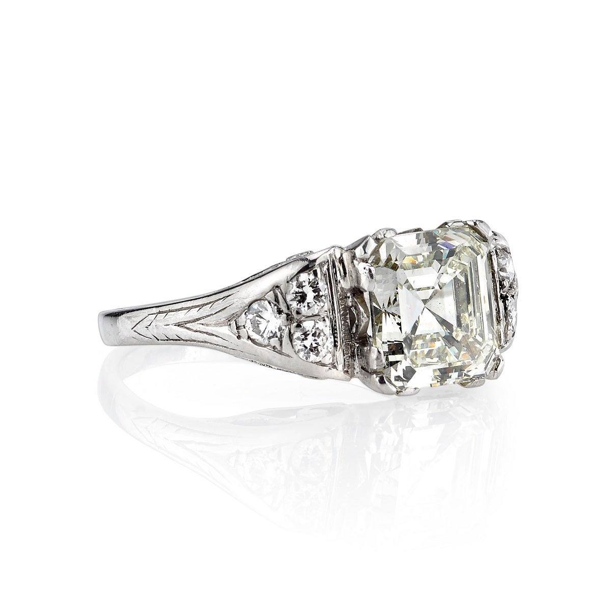 2 38ct vintage asscher cut engagement ring at 1stdibs