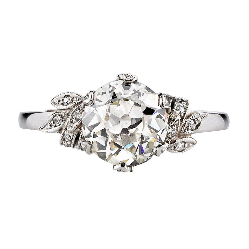 victorian floral engagement ring at 1stdibs. Black Bedroom Furniture Sets. Home Design Ideas