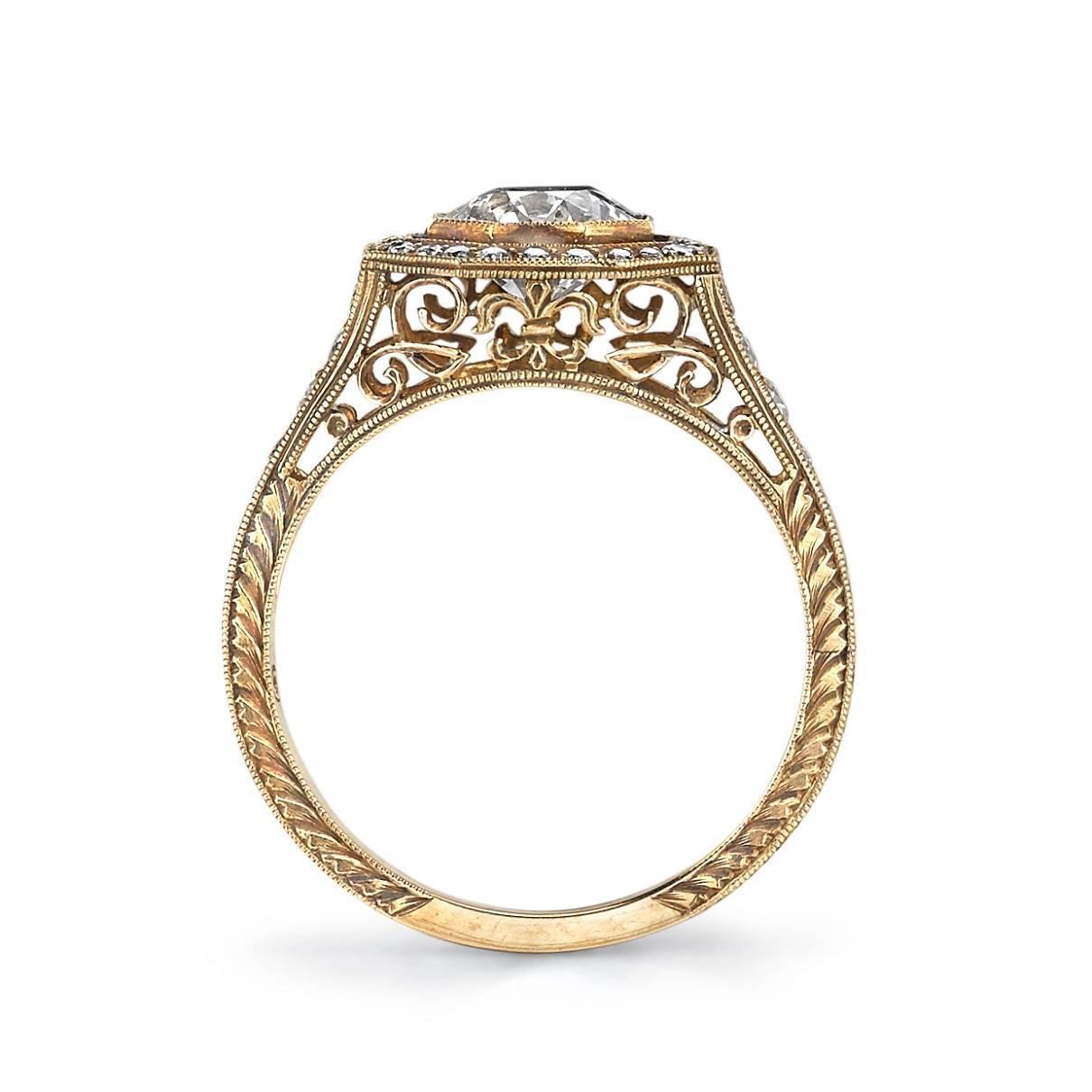 edwardian inspired diamond gold engagement ring at 1stdibs