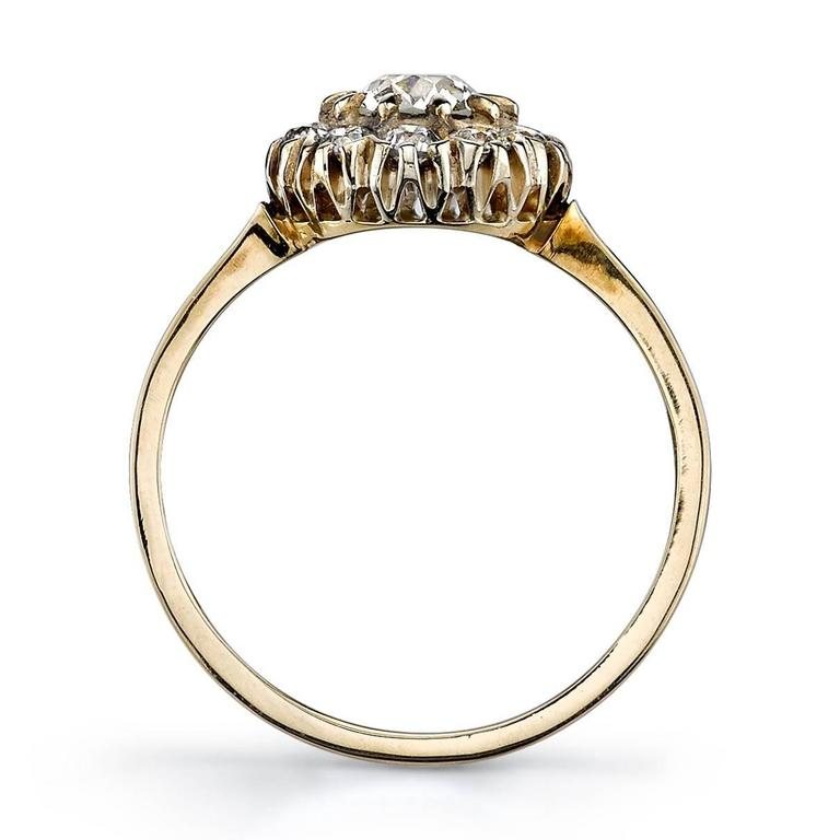 Vintage Style Cluster Engagement Ring For Sale at 1stdibs