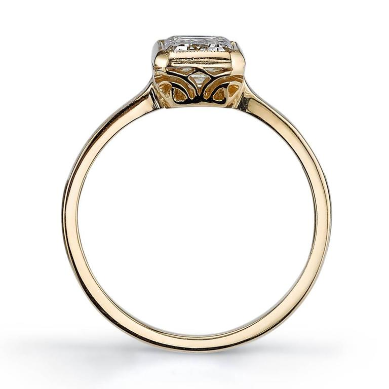 emerald cut yellow gold engagement ring at 1stdibs