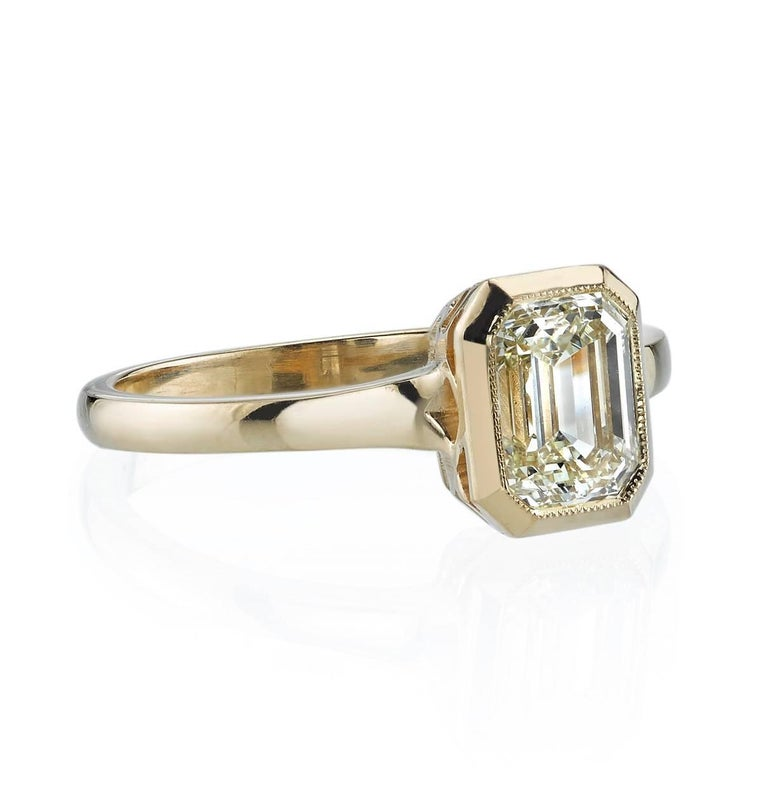 yellow gold emerald cut engagement ring at 1stdibs