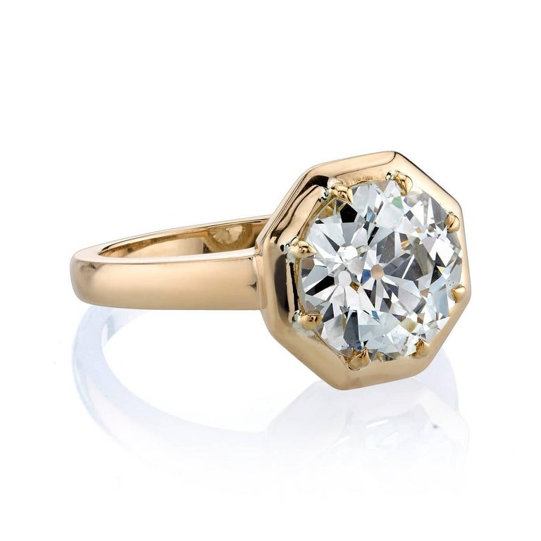 3.32ct M/VS1 old European cut diamond GIA certified and set in a handcrafted 18k yellow gold mounting.  A twist on our signature Cori ring, the Lola embodies all of the Cori's chic boldness with an octagonal head.
