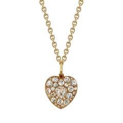 2.50 Carat Vintage Diamond Heart Pendant