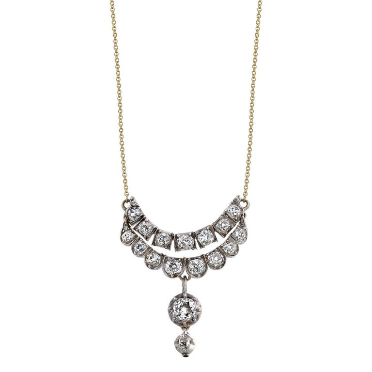 Georgian Diamond Drop Necklace