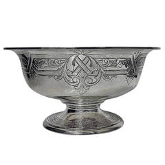 Gorham American Fine Large Sterling Silver Bowl circa 1935