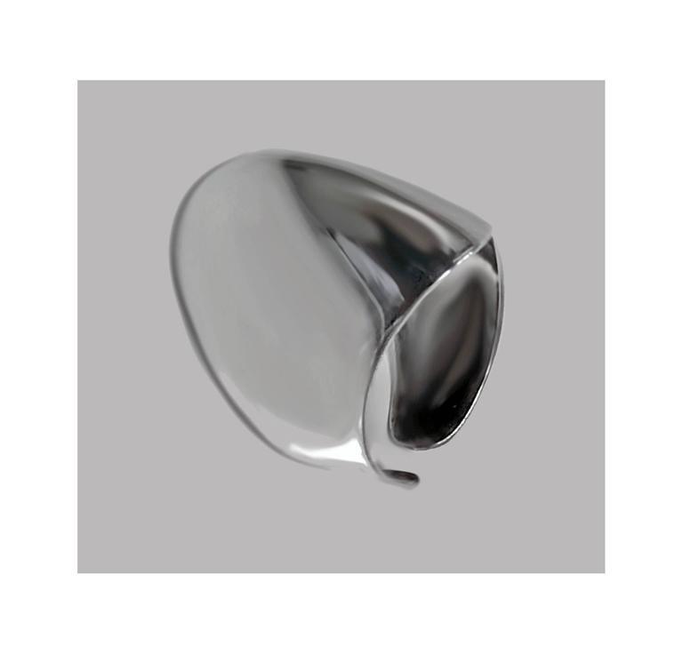 Modernist Bent Knudsen Scandinavian Mid-Century Sterling Ring  For Sale
