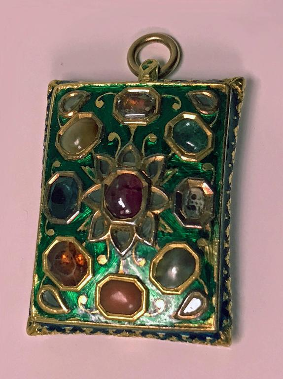 Antique Indian Enamel Pendant Late 18th 19th Century At