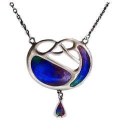 Charles Horner Art Nouveau Enamel Necklace