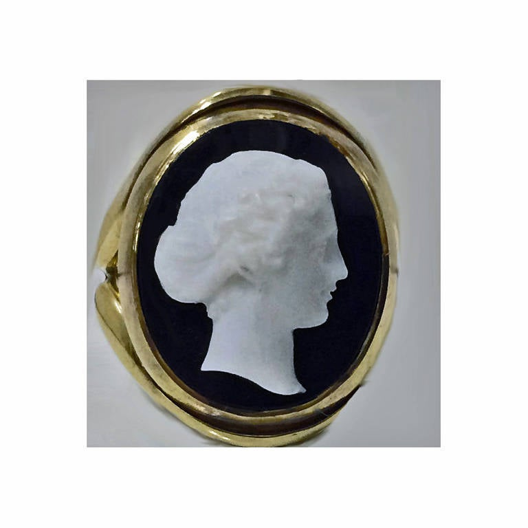 antique cameo gold ring at 1stdibs