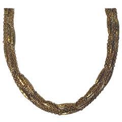 Antique Gold Muff Chain English, circa 1890