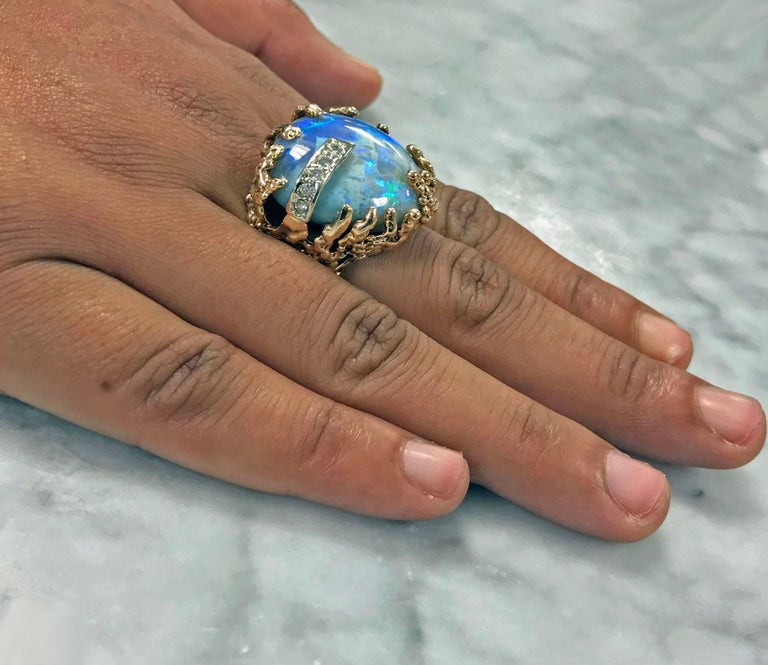 Abstract Opal Diamond Two Color Gold Ring For Sale At 1stdibs. India Name Engagement Rings. Dragon's Breath Rings. Obnoxious Wedding Rings. Wood Wedding Engagement Rings. Dragon Claw Wedding Rings. Little Finger Rings. Lovely Couple Wedding Rings. Tray Design Wedding Rings