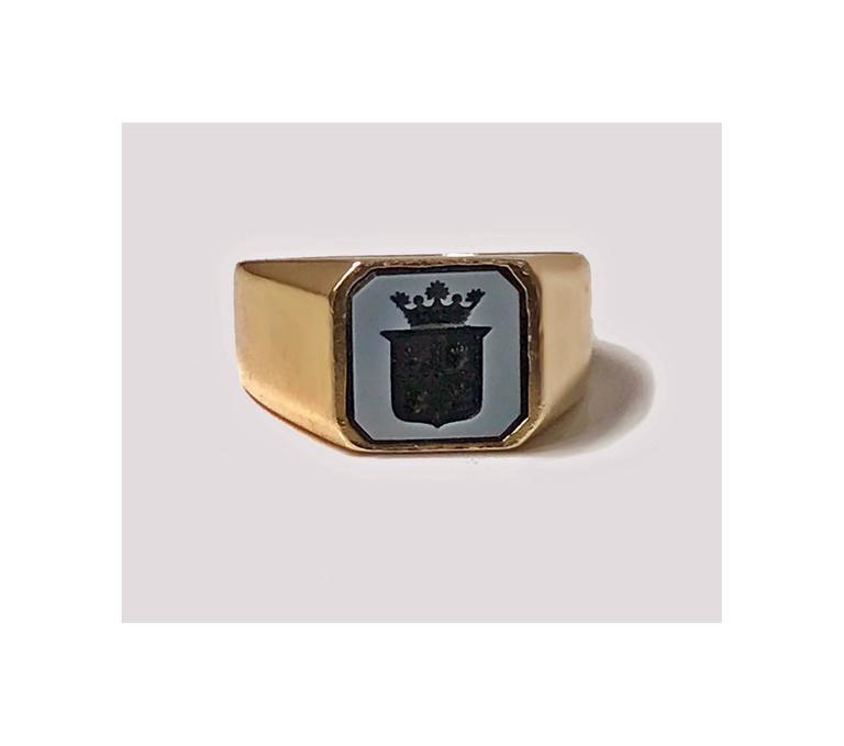 Antique Victorian Gold Sardonyx Ring 3