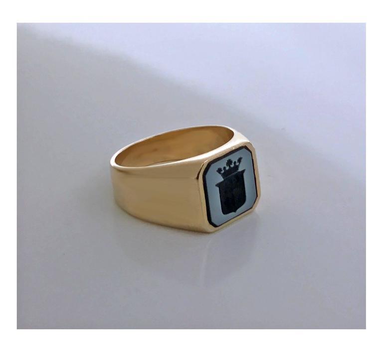 Antique Victorian Gold Sardonyx Ring 4