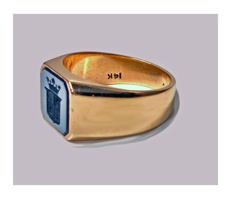 Antique Victorian Gold Sardonyx Ring 5