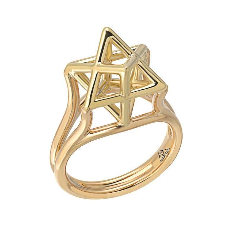 Merkaba Star Gold Ring Signed and Numbered