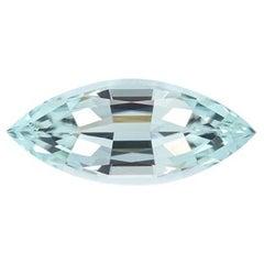Blue Green Tourmaline Ring Gem 3.07 Carat Marquise Loose Gemstone