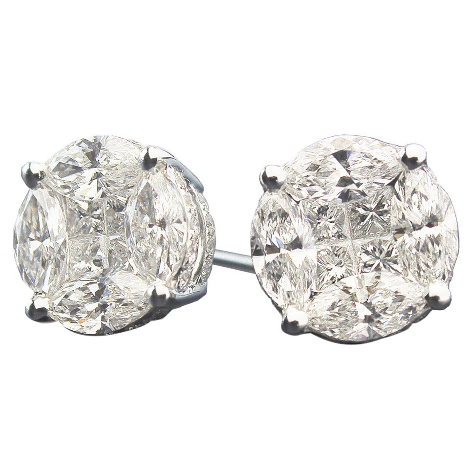 David Rosenberg Diamond Illusion Stud Earrings At 1stdibs. Cost Platinum. Fluorite Engagement Rings. Indian Rings. Lapis Earrings. Buy Jewelry Beads Online. Rfid Bracelet. 5mm Bracelet. Gold Earrings