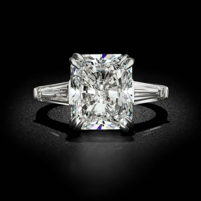 605 carat radiant cut diamond ring for sale at 1stdibs