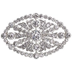 Tiffany & Co. Edwardian Diamond Platinum Brooch