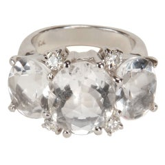 Medium GUM DROP™ Ring with Rock Crystal and Diamonds