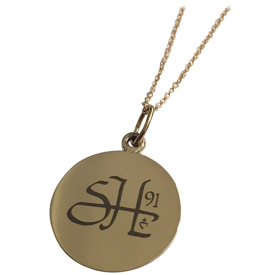 personalized gold communion pendant necklace for