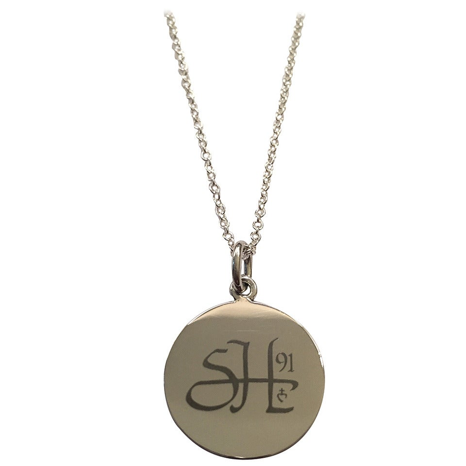 Personalized Silver First Communion Pendant Necklace