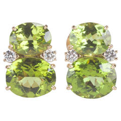 Medium GUM DROP™ Earrings with Peridot and Diamonds