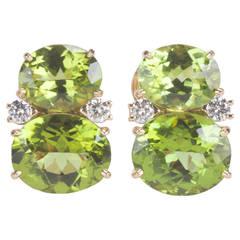Medium GUM DROP™ Earrings with Peridot and Diamonds