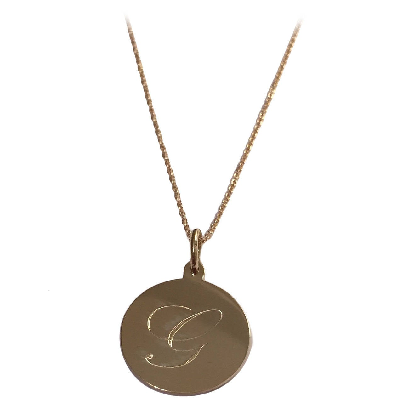 beautiful personalized engraved gold circle pendant and