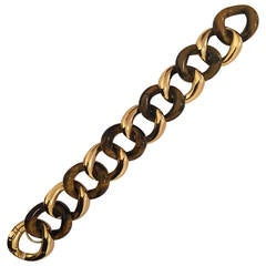 Tiger's Eye Gold Link Bracelet