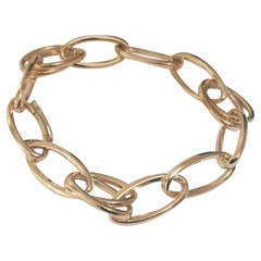Yellow Gold Double Marquise Link Bracelet