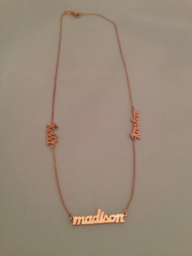 Signature Collection Mini Script Rose Gold Name Necklace