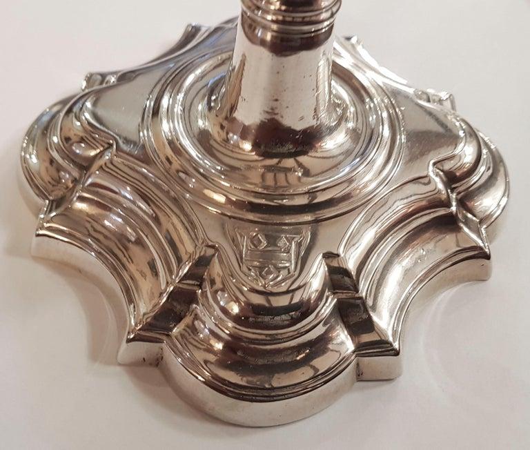 Georgian English Silver Candlesticks For Sale