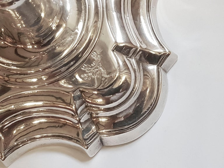 English Silver Candlesticks In Excellent Condition For Sale In London, GB
