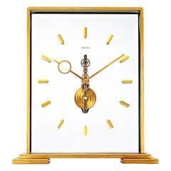 1950s Cartier LeCoultre Skeleton Mantel Clock