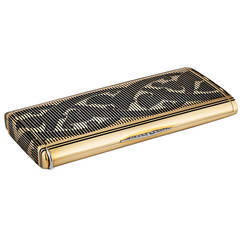 Cartier Art Deco Diamond Gold Necessaire