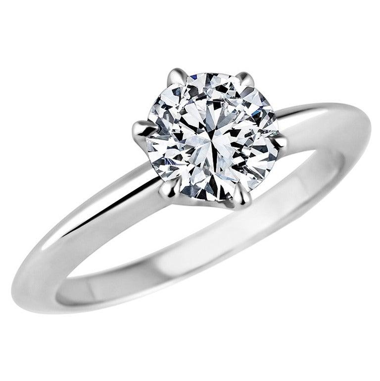 Tiffany and Co 96 carat Diamond Platinum Engagement Ring at 1stdibs