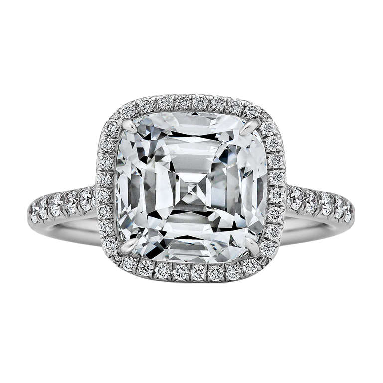 Tiffany and Co Diamond and Platinum Engagement Ring at 1stdibs