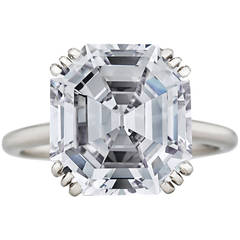 Cartier Paris 8.06 Carat GIA Cert Asscher Cut Diamond Platinum Engagement Ring