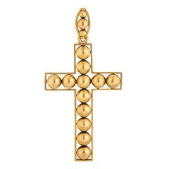 Victorian Handmade Gold Cross Pendant